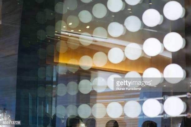 Light bulbs in mirror