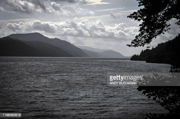 Light cloud covers the sky above Loch Ness in Drumnadrochit, Scotland, on September 5, 2019.