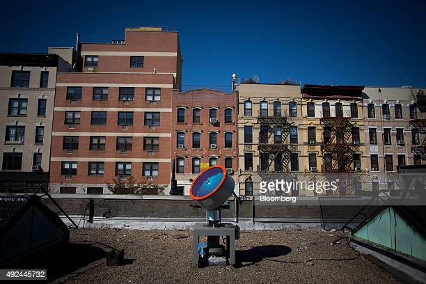 A light collector sits on the rooftop of the Lowline Lab in New York US on Monday Oct 12 2015 An underground park in New York City's Lower East Side...