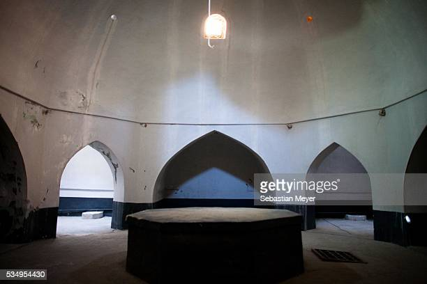 Light comes through the ceiling in the hamam in the Erbil Citadel The ancient citadel in Erbil Iraq is thought to be one of the oldest continuously...