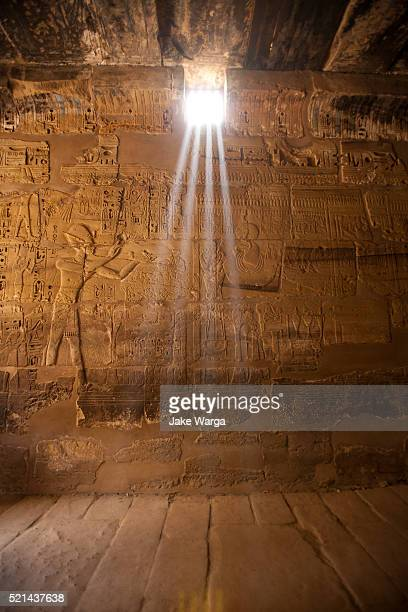 light coming into tomb, luxor, egypt - jake warga stock pictures, royalty-free photos & images