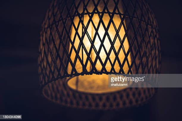 light decoration made form woven bamboo as external casing - shaifulzamri stock pictures, royalty-free photos & images