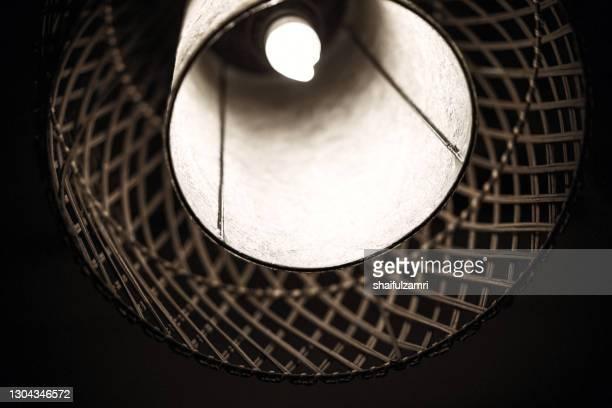 light decoration made form woven bamboo as external casing - shaifulzamri imagens e fotografias de stock