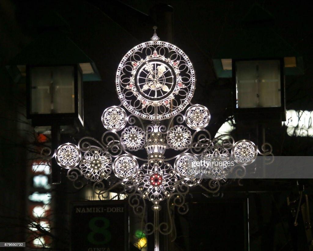 LED light decoration of Namiki Dori Street : Stock Photo