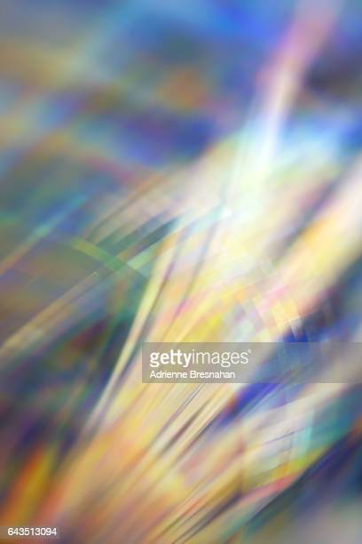 light effects from holographic paper - reflet photos et images de collection