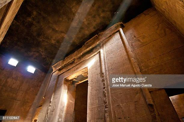 Light enters the Temple of Horus