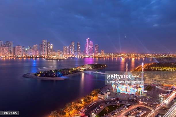 Light festival in Sharjah