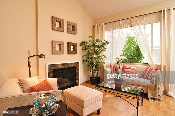 Light Filled Interior Photo of Living Room Apartment Home