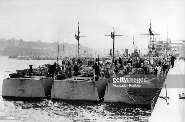 Light German naval units are docked in the harbour of Gdynia just occupied Poland September 1939