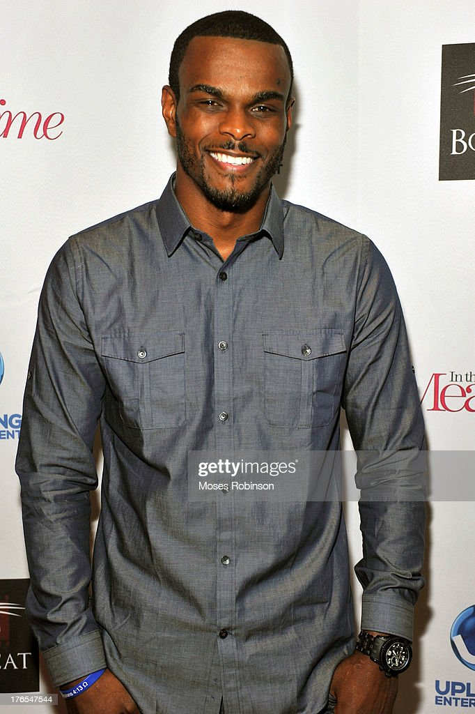 Light Heavy Weight Boxer Michael Seals attends the premiere of 'In the Meantime' at the Woodruff Arts Center on August 14, 2013 in Atlanta, Georgia.
