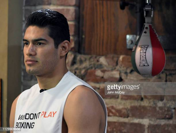 Light heavyweight boxer Gilberto Zurdo Ramirez works out at Fortune Gym on March 11 2019 in Los Angeles California