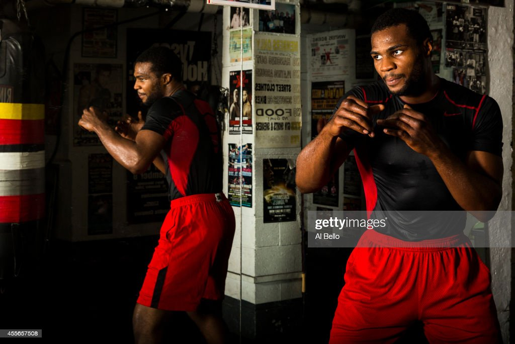 Light Heavyweight boxer Marcus Browne trains at the Park Hill Boxing club on September 17, 2014 in Staten Island, New York.