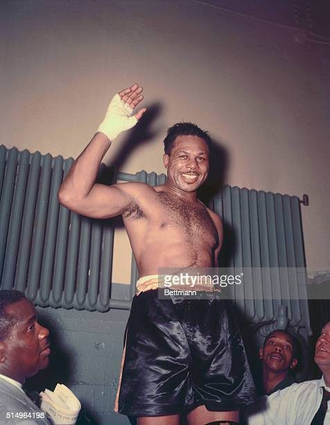 Light heavyweight champion Archie Moore after his victory over Bob Olson