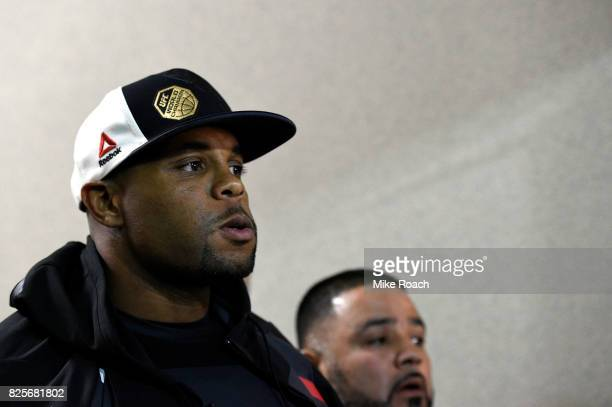 UFC light heavyweight champion Daniel Cormier waits backstage during the UFC 214 event inside the Honda Center on July 29 2017 in Anaheim California