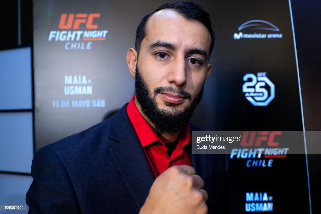 UFC light heavyweight contender Dominick Reyes the United States attends the media during Ultimate Media Day on May 17, 2018 in Santiago, Chile.