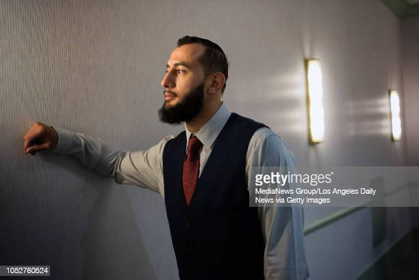 UFC light heavyweight Dominick Reyes photographed at the Park MGM in Las Vegas NV Oct 4 2018