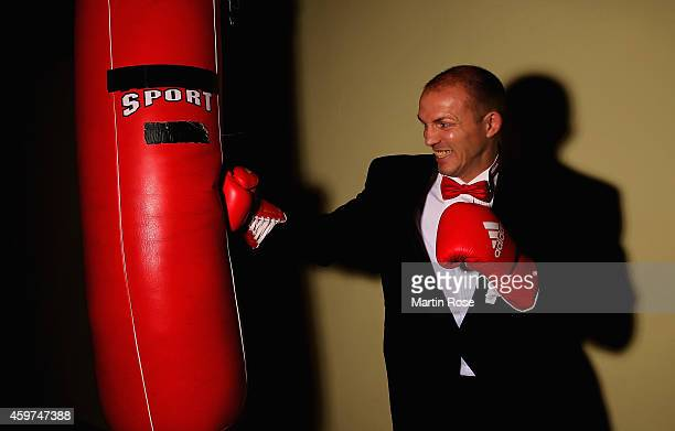 Light heavyweight fighter Juergen Braehmer of Germany poses during a photocall at his training camp on November 20, 2014 in Schwerin, Germany....