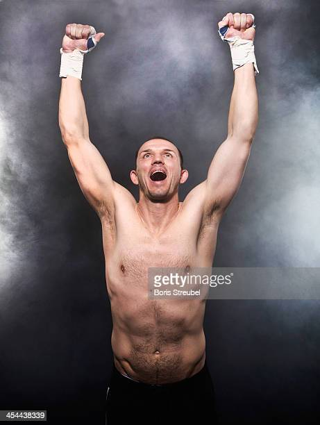 Light heavyweight fighter Juergen Braehmer poses during a photocall at Sportschule Gustrow on December 4 2013 in Gustrow Germany