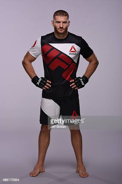 UFC light heavyweight Jan Blachowicz of Poland poses for a portrait during a UFC photo session on September 1 2015 in Las Vegas Nevada