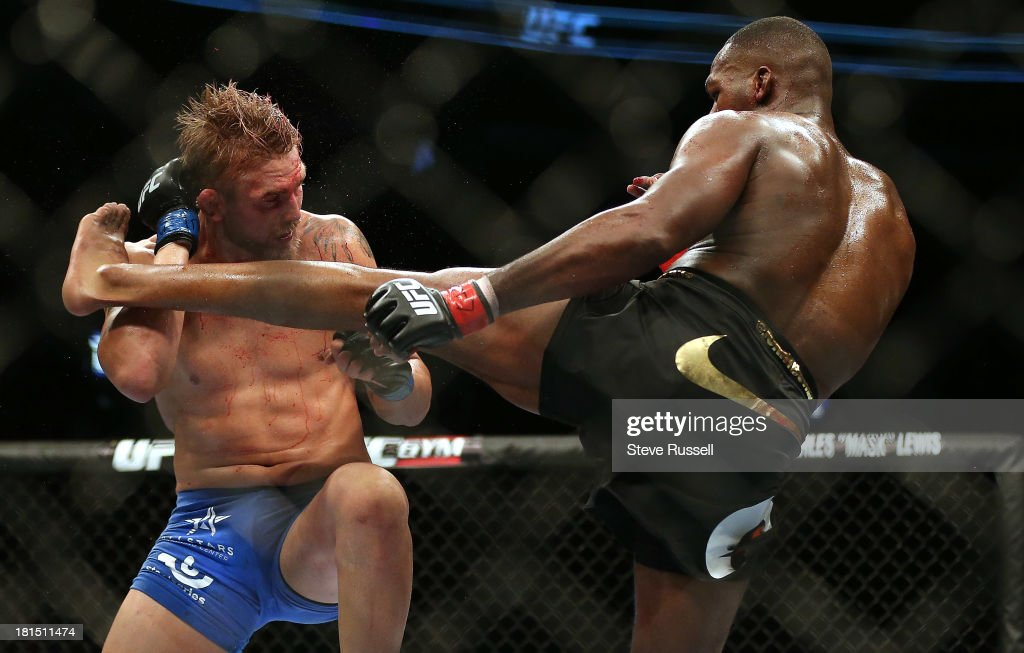 TORONTO, ON- SEPTEMBER 22 - Light Heavyweight Jon Jones retains his Light Heavyweight title against Swede Alexander Gustafsson at UFC 165 at the Air Canada Centre in Toronto, September 22, 2013.