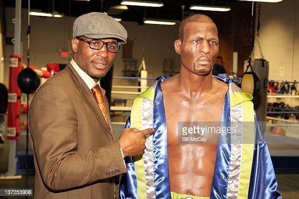 """Light Heavyweight World Champion Bernard """"The Executioner"""" Hopkins attends Bernard Hopkins Ripley's Believe It Or Not! wax figure unveiling at Joe..."""