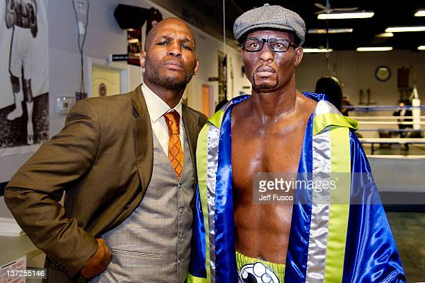 Light Heavyweight World Champion Bernard 'The Executioner' Hopkins attends the Ripley's Believe It Or Not! Wax Figure unveiling at Joe Hand's Boxing...