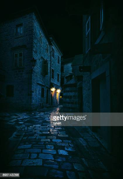 Light in a Dark Alley, Kotor, Montenegro