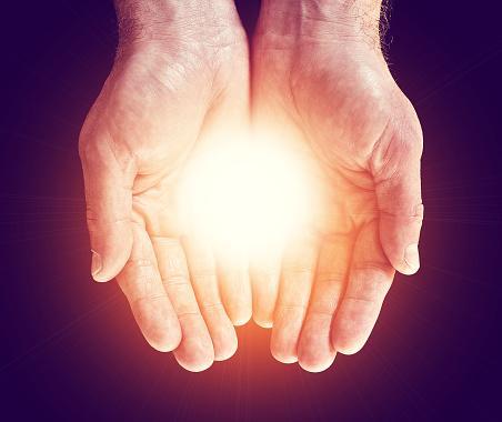 Light in hands - gettyimageskorea