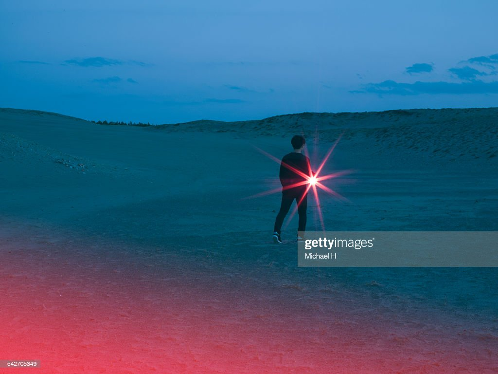 A light in the desert