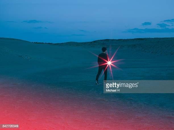 A light in the desert