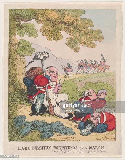Light Infantry Volunteers on a March June 8 1804 Artist Thomas Rowlandson