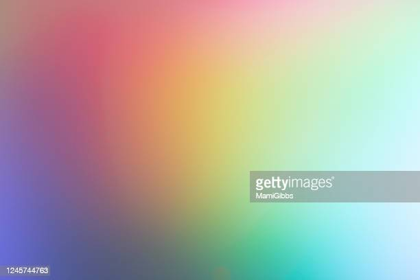 light is reflected on the hologram sheet - color tipo de imagen fotografías e imágenes de stock