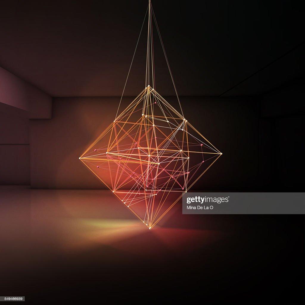 Light Lines Room 02 : Stock Photo