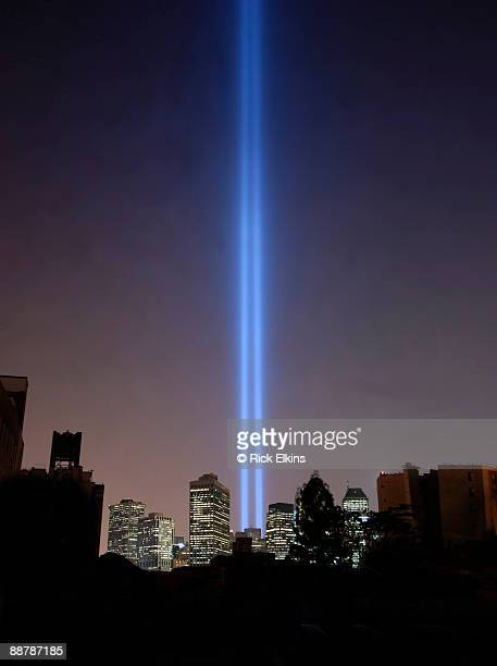 9/11 light memorial - world trade center memorial stock pictures, royalty-free photos & images