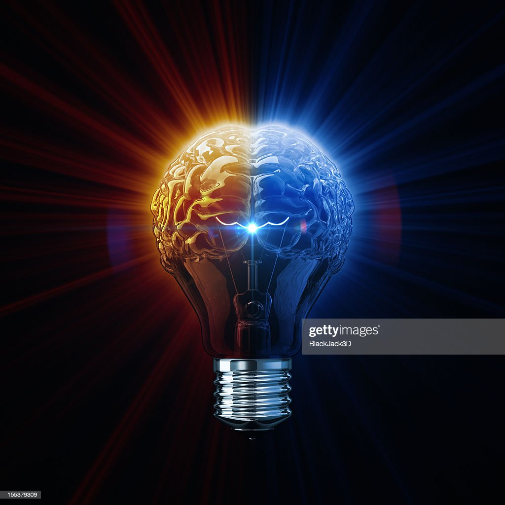 Light Of Brainstorm : Stock Photo
