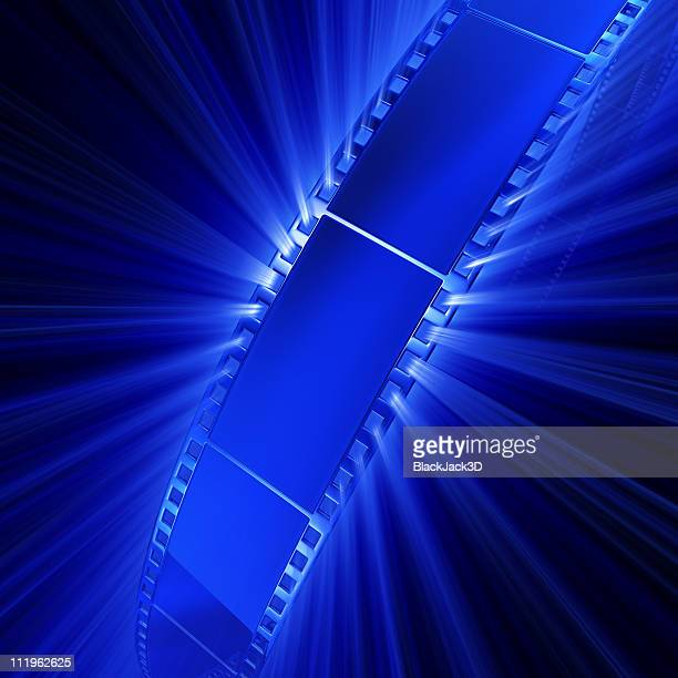 light of film - blue film video stock photos and pictures