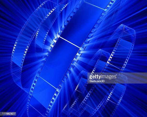 light of films - blue film video stock photos and pictures