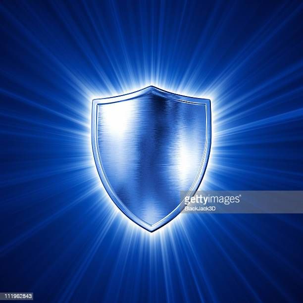 light of silver shield - shield stock pictures, royalty-free photos & images