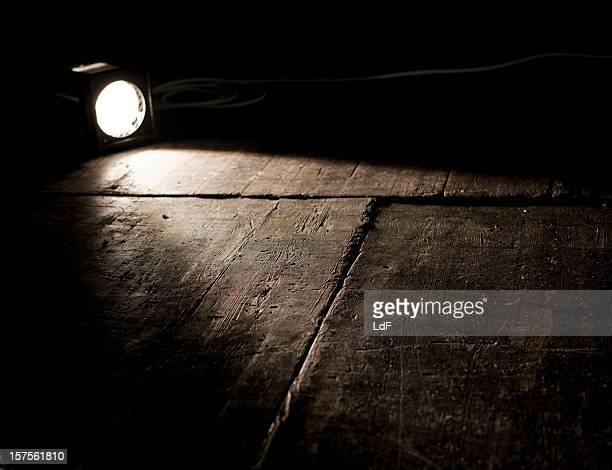 Light on wooden stage in a Theatre