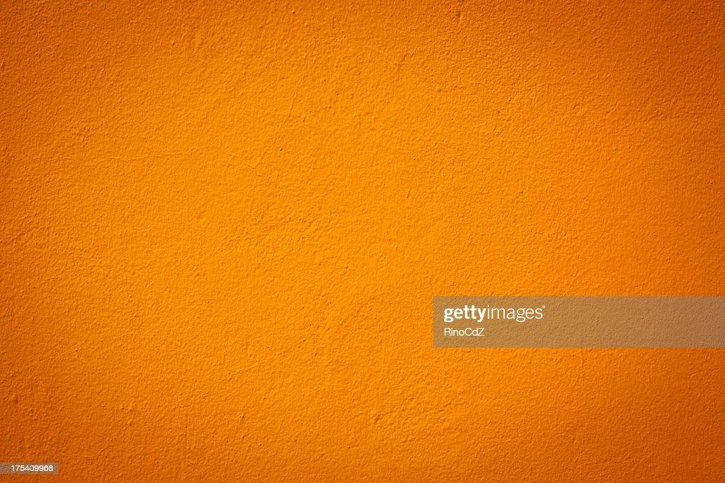 Light orange color wall texture : Stock Photo