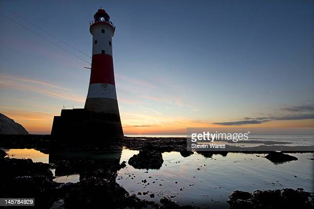 light over world - beachy head stock photos and pictures