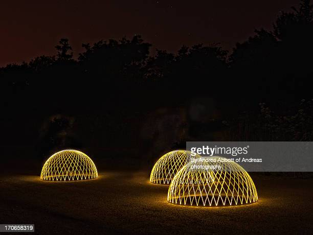 Light painted domes