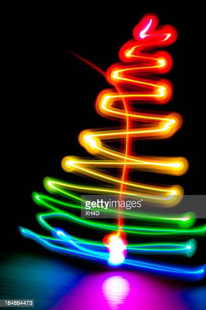 Light Painting christmas tree