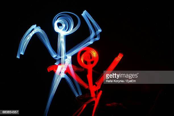 Light Painting Of Stick Figures
