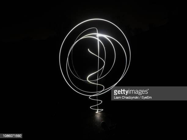 Light Painting Over Black Background