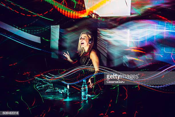 dj, light painting - dj stock pictures, royalty-free photos & images
