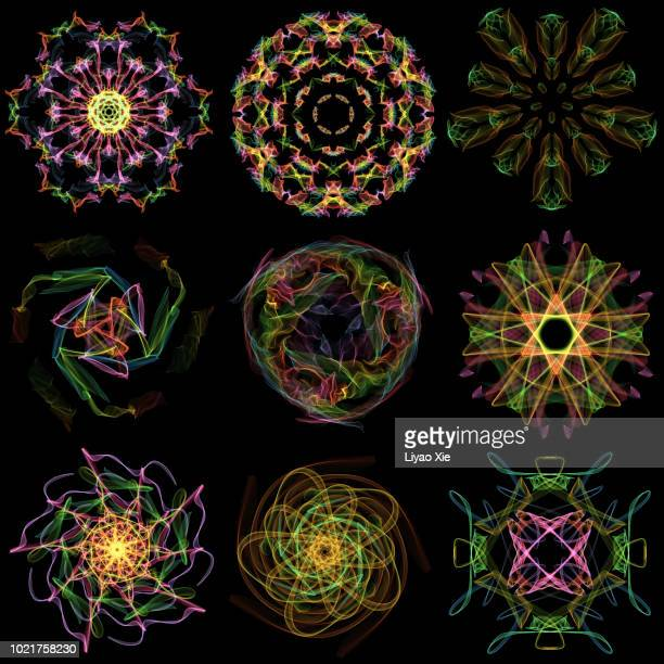 light pattern - atom stock photos and pictures