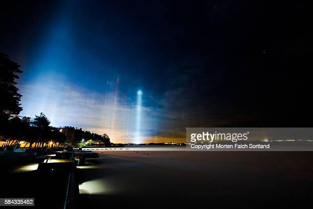 Light Pillars, Oslo, Norway