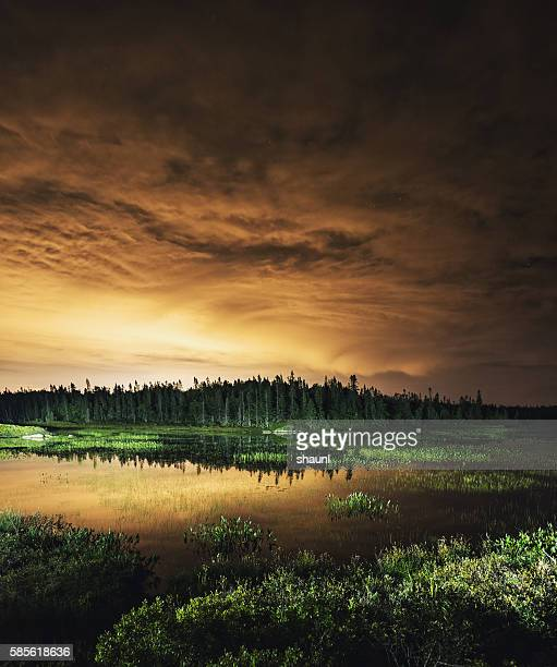 Leichte verschmutzt Lake