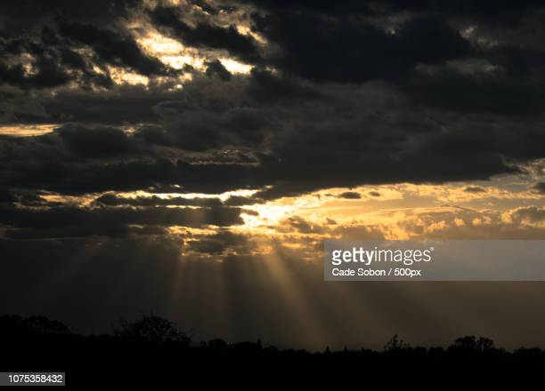 Light Rays Through Clouds After a Storm